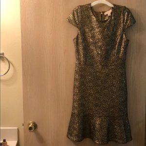 Michael Kors Gold Foil Dress